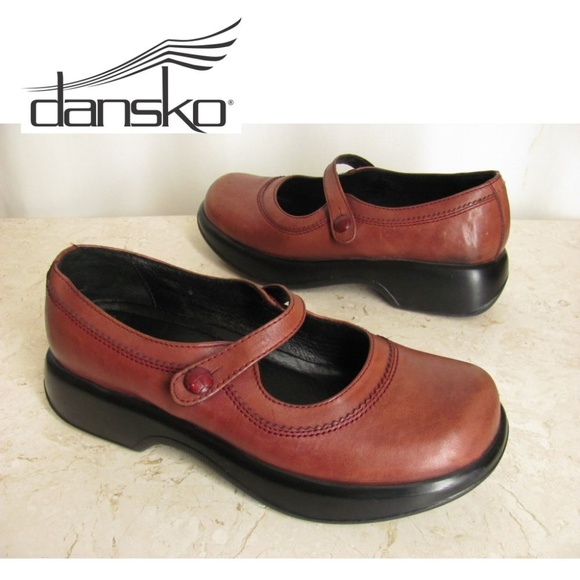 Women's Shoes Dansko 41 Mary Jane Brown Leather Shoes